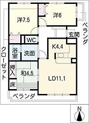 シティコーポ植園503号室[5階]の間取り