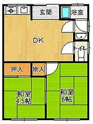 聖荘[105号室]の間取り