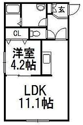 サザンフィールド東札幌[105号室]の間取り