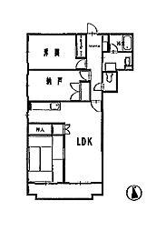 Kボヌール[2階]の間取り