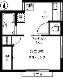 久保荘[201号室]の間取り