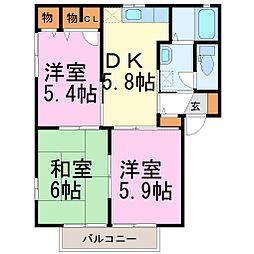 フレンジトウコウ B[1階]の間取り