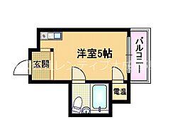 Osaka Metro谷町線 野江内代駅 徒歩7分の賃貸マンション 4階ワンルームの間取り