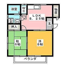 グリーンフィールドA棟[2階]の間取り