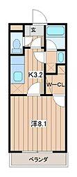 神奈川県大和市南林間6丁目の賃貸マンションの間取り