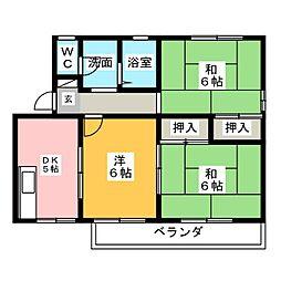 コンフォール城址[2階]の間取り