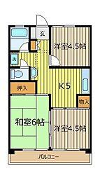 志木マンション[2階]の間取り