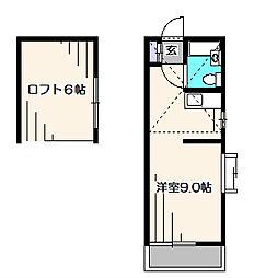 光コーポラスII[2階]の間取り