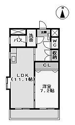 愛知県名古屋市中村区角割町1丁目の賃貸マンションの間取り