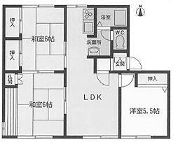 愛知県名古屋市瑞穂区萩山町2丁目の賃貸アパートの間取り