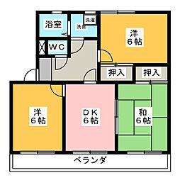シティ・ナカヤマ A[2階]の間取り