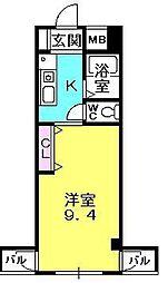エトール夙川[203号室]の間取り