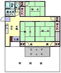 [タウンハウス] 福岡県糟屋郡新宮町下府3丁目 の賃貸【/】の間取り