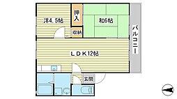 兵庫県相生市那波野2丁目の賃貸アパートの間取り