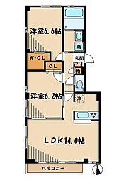グラード中央 bt[1階]の間取り