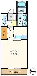 埼玉県越谷市大沢3丁目の賃貸マンションの間取り