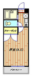 RHK栄和8[104号室]の間取り