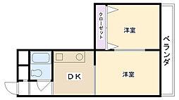 カーサ甲子園[602号室]の間取り