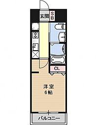 エステムプラザ京都三条大橋[205号室号室]の間取り