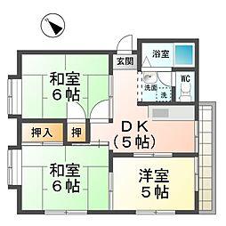 愛知県稲沢市小沢2丁目の賃貸マンションの間取り