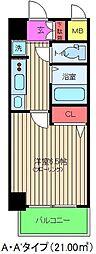 エステムコート梅田・天神橋リバーフロント[9階]の間取り