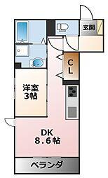CLII[1階]の間取り
