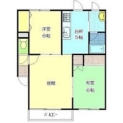 北海道札幌市豊平区中の島二条4丁目の賃貸アパートの間取り