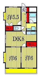 エクセラン[2階]の間取り