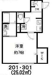 新築 Jure Kagurazaka[301号室号室]の間取り