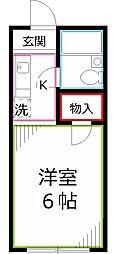 東京都国分寺市日吉町2丁目の賃貸マンションの間取り