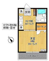 フルーツハウスII[105号室]の間取り