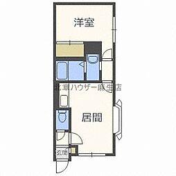 プレステージ札幌[3階]の間取り