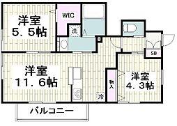 仮称)平戸町メゾンA棟 1階2LDKの間取り