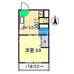 ハイツ森本II[2階]の間取り