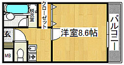 ウィルネス三界[4階]の間取り