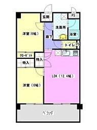 レージュ藤塚[1階]の間取り