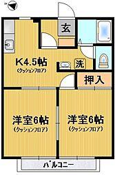 メゾン橋本[103号室号室]の間取り