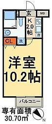 東京メトロ南北線 東大前駅 徒歩5分の賃貸マンション 3階1Kの間取り