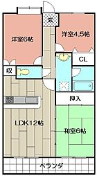 アプローズ戸畑駅弐番館 1107号[1107号室]の間取り