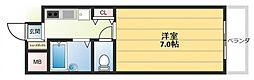 ノアーズアーク長田21[8階]の間取り