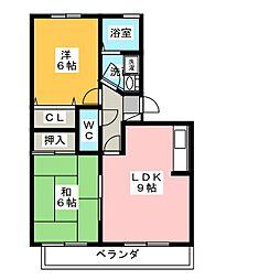 ロイヤルガーデン昭和 A棟[1階]の間取り