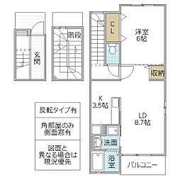 KESHIKI 3階1LDKの間取り