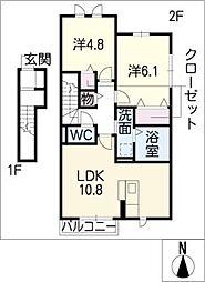 メゾンプラック[2階]の間取り