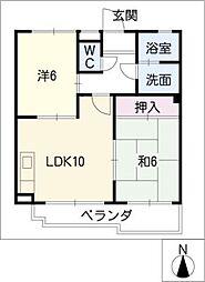ヴィラ・小田井[1階]の間取り