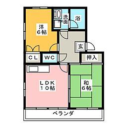 ノーブルエイト[3階]の間取り