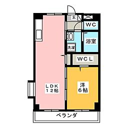 愛知県岡崎市大門3丁目の賃貸マンションの間取り