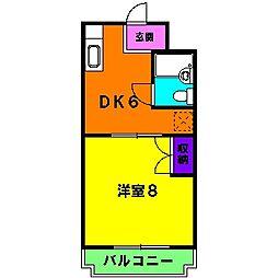 静岡県浜松市東区豊町の賃貸マンションの間取り