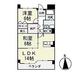 グランド・ステージ桜華 1階[104号室]の間取り