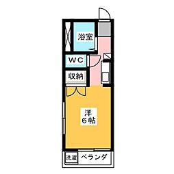 メイプル安東FII[3階]の間取り