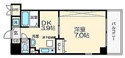 エステムコート心斎橋アルテール[4階]の間取り